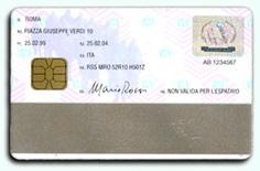 Carta Identita' Elettronica: fronte della smart card