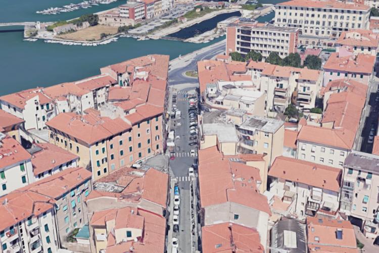 Veduta dall'alto di Borgo Cappuccini