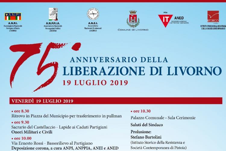 Locandina per il 75° anniversario della Liberazione di Livorno dal nazifascismo