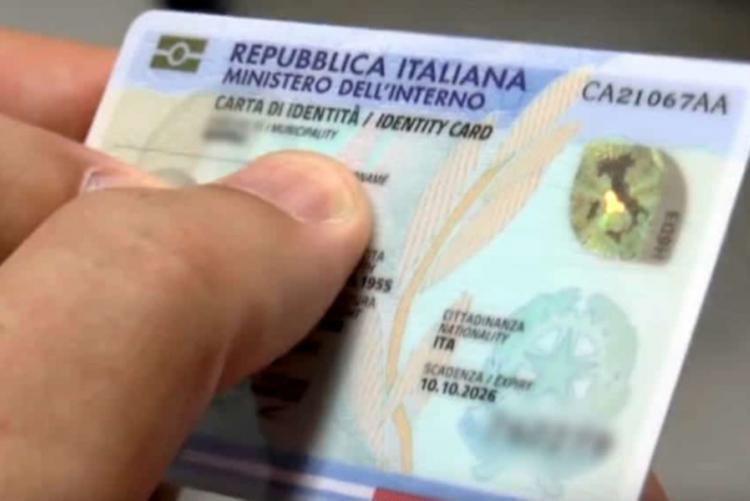 Foto di una carta d'identità