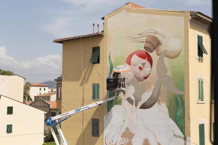murale Sirena in Borgo Cappuccini / foto di Ilaria Tamalio