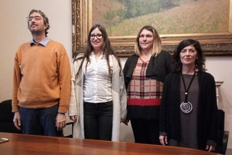 Foto di Leonardo Apolloni e Stella Sorgente insieme a Debora Colombaioni e Valentina Longhi di Ceis Livorno