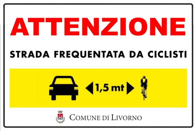 immagine del cartello attenzione ciclisti