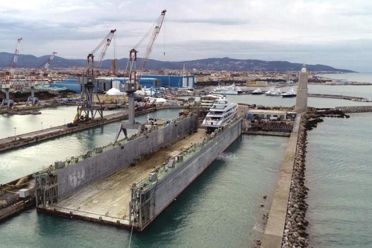 Immagine del bacino galleggiante