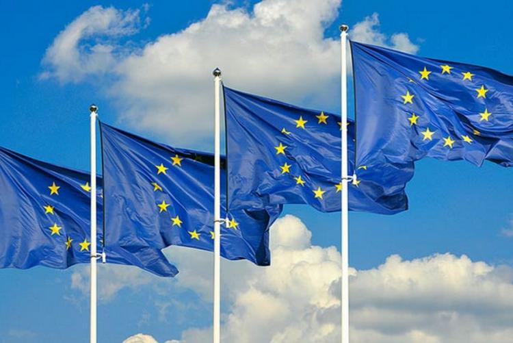 foto di bandiere dell'Unione Europea