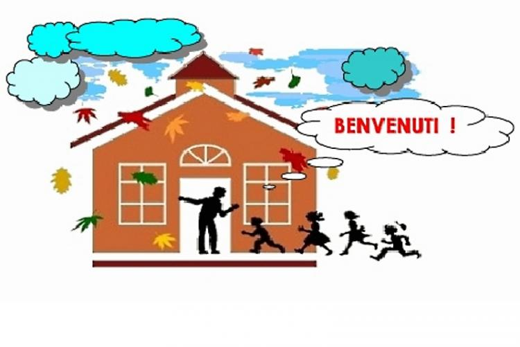 Immagine grafica dell'ingresso a scuola