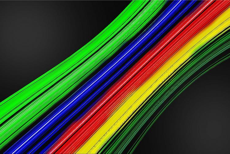 Foto di cavi in fibra ottica