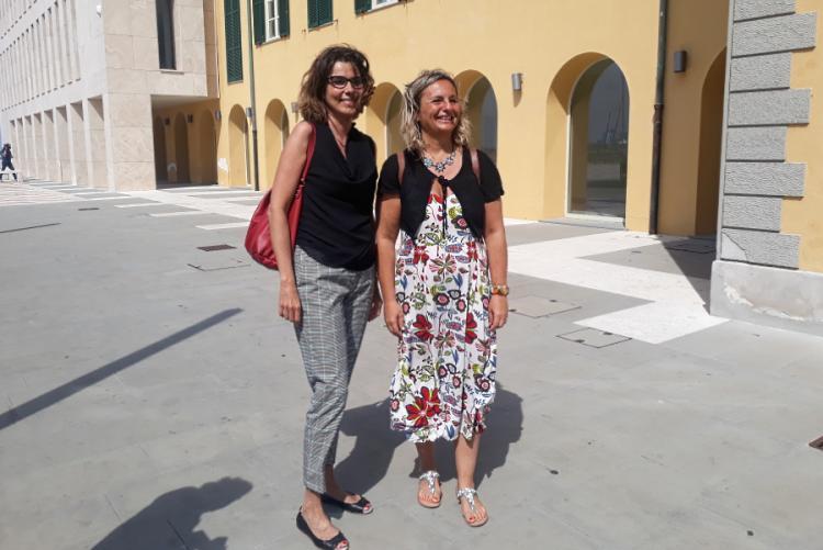 Foto dell'assessore Bonciani e dell'assessore Cepparello allo Scoglio della Regina