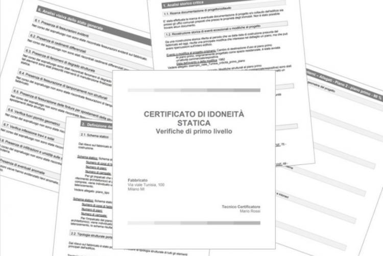 immagine di alcuni modelli di certificati