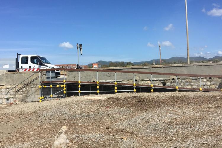 Foto della nuova discesa alla spiaggia dei Tre Ponti