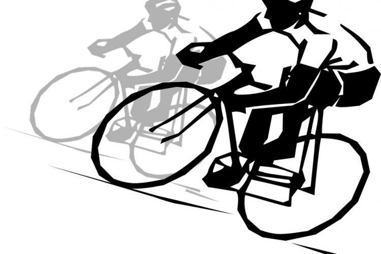 immagine di un ciclista