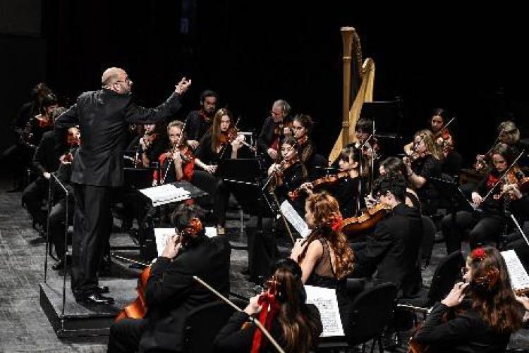 foto di un'orchestra
