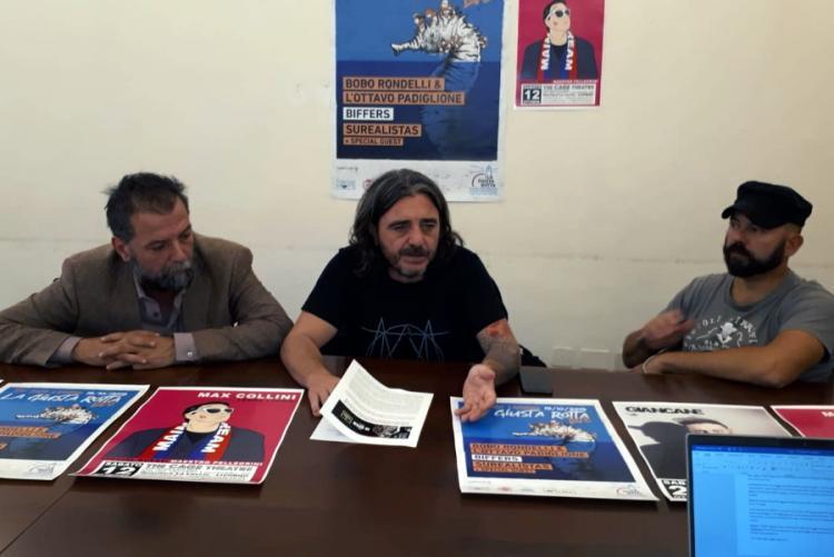 Foto di un momento della conferenza stampa