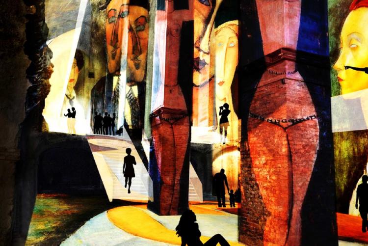 Foto proiezioni Immersiva Modigliani