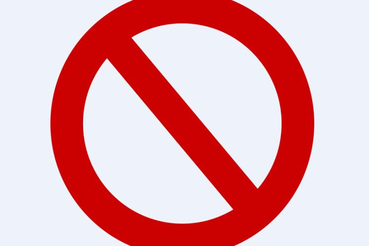 cartello di divieto - Foto di Elionas da Pixabay