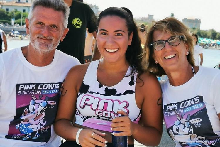 Foto di una famiglia partecipante all'evento