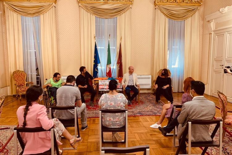 Foto della presentazione dell'iniziativa in Sala delle Cerimonie
