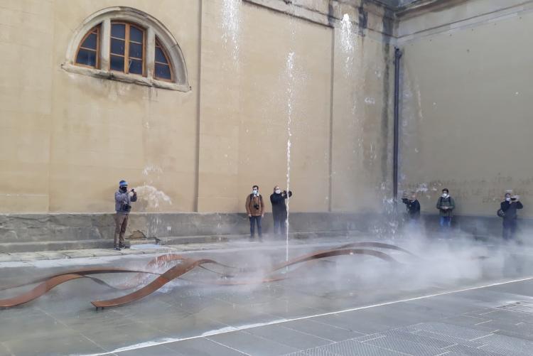 Foto della fontana del Cisternone