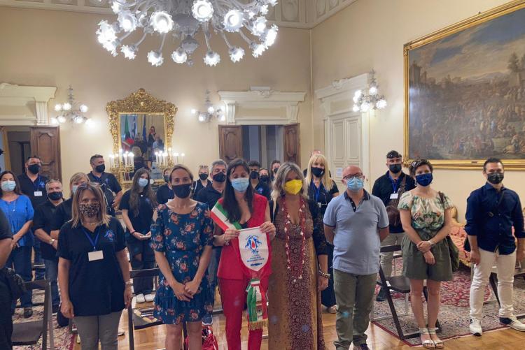 foto di un momento della visita della delegazione greca