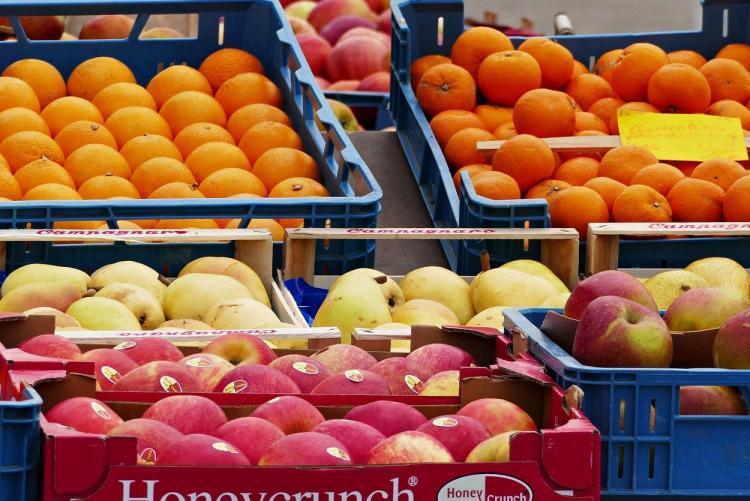 Foto di frutta al mercato