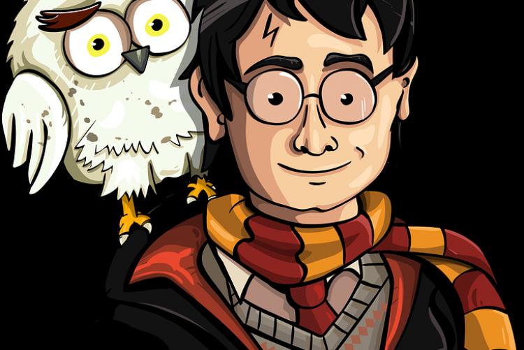 Un disegno che raffigura Harry Potter