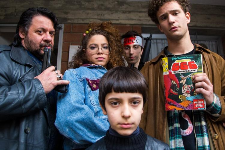 """foto del cast del film """"Il mostro della cripta"""""""