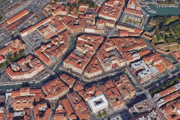 Immagine del quartiere della Venezia dall'alto
