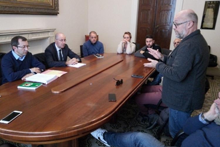 Immagine dell'incontro con i lavoratori