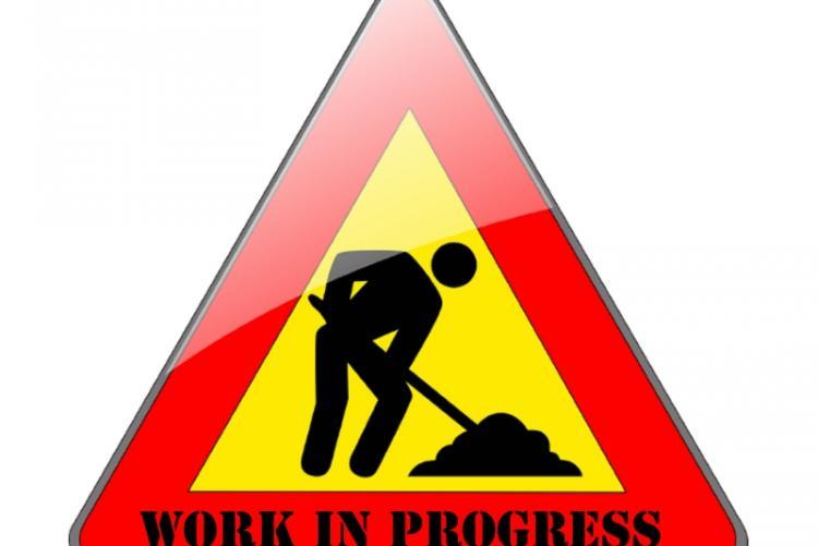 immagine di cartello relativo a lavori in corso