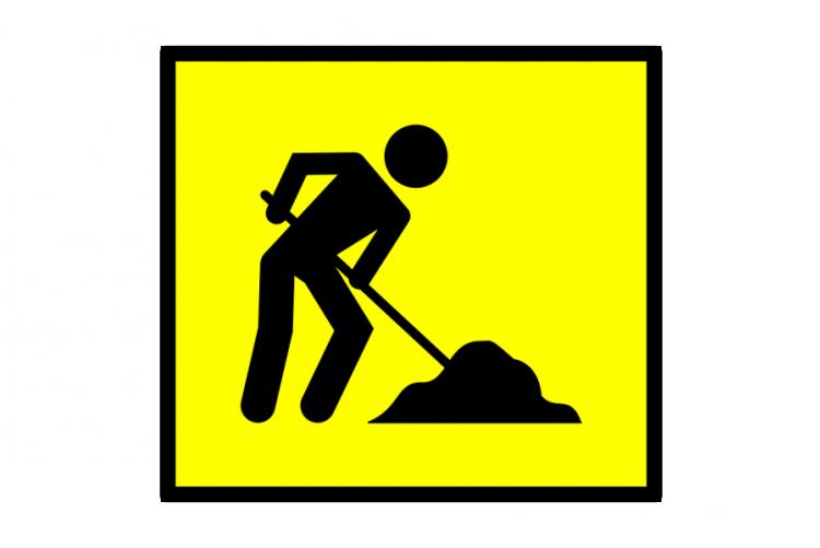 immagine cartello lavori in corso