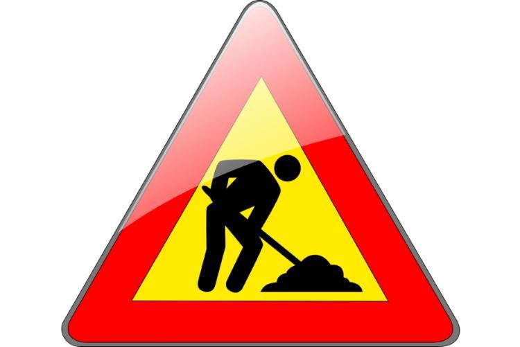 Immagine del cartello di lavori in corso