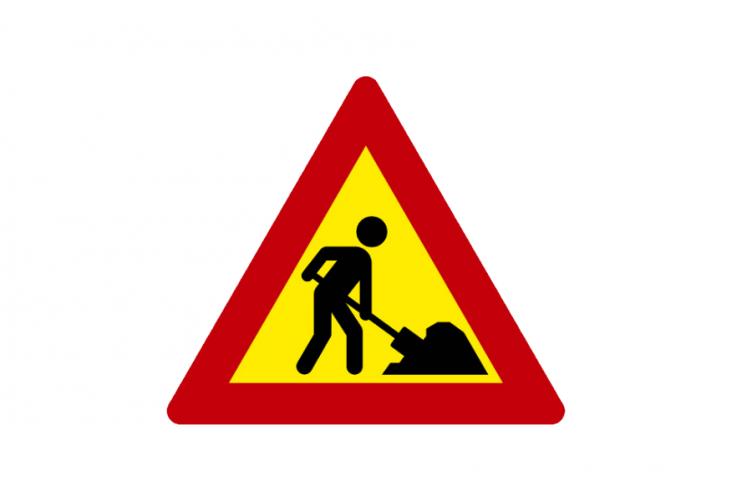 immagine del cartello stradale di lavori in corso