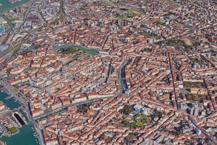 Immagine di Livorno visione aerea