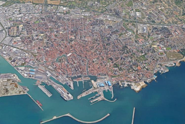 immagine di Livorno dall'alto