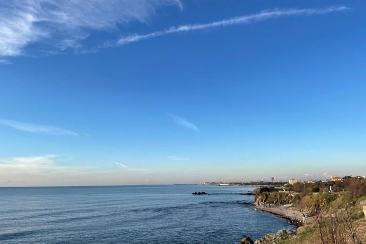 foto del litorale di Livorno zona Antignano