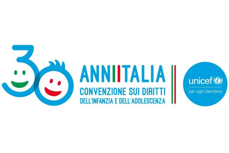 logo del trentennale della ratifica della Convenzione sui diritti dell'infanzia e dell'adolescenza