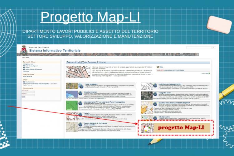 Immagine della home page di MapLi
