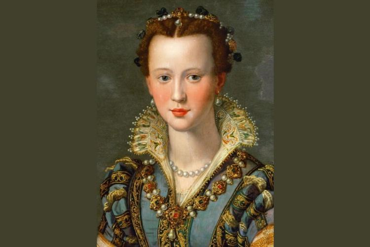 fofo del dipinto di Allori (Maria de Medici)