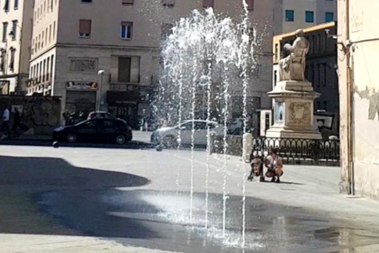 La fontana di Piazza Guerrazzi