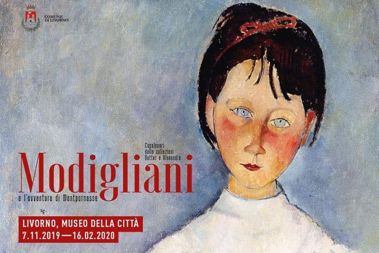 Immagine della locandina della mostra di Modigliani