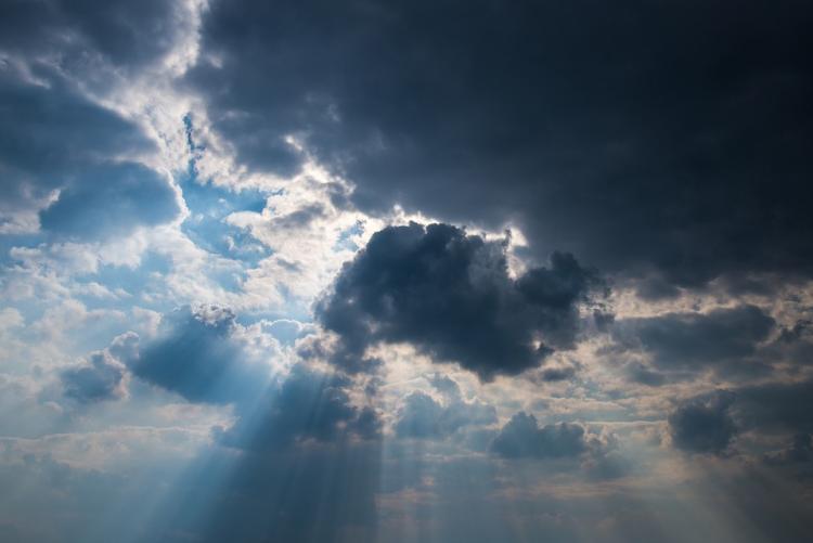 Foto di un temporale