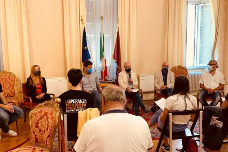 Foto della presentazione dell'iniziativa