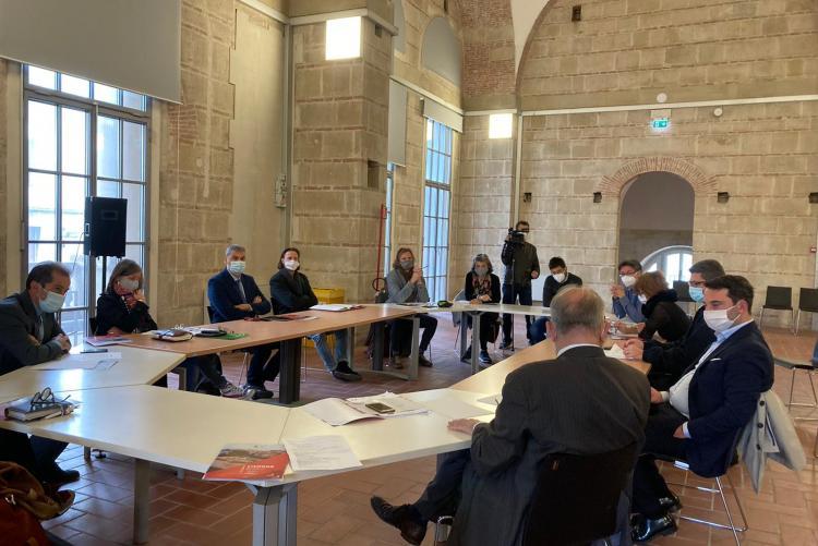 Foto riunione per la Campagna di Ascolto verso la formazione del nuovo Piano Operativo Comunale