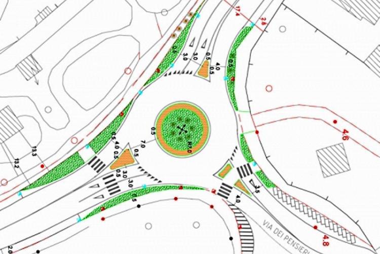 Immagine del progetto per la nuova rotatoria