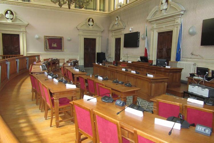 foto della sala del Consiglio Comunale