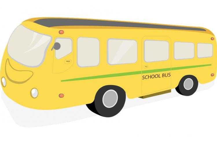 immagine di uno scuolabus disegnato