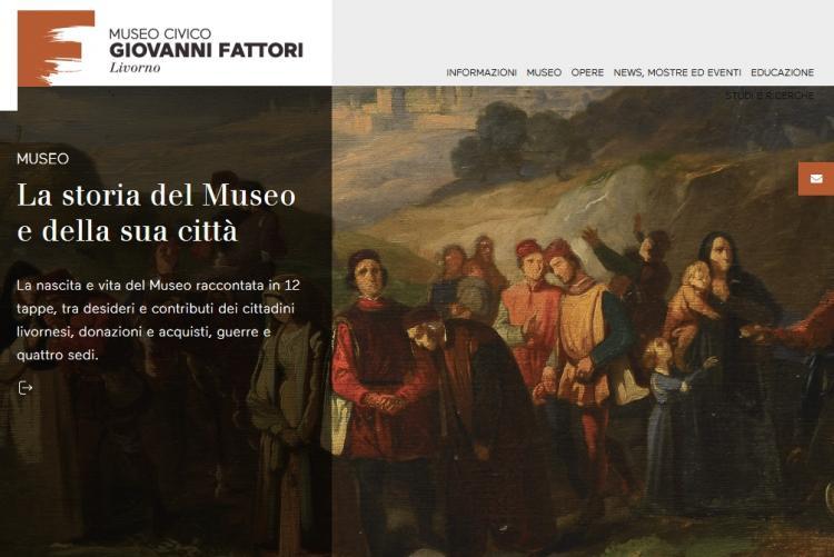 Immagine della Homepage del sito web del Museo fattori