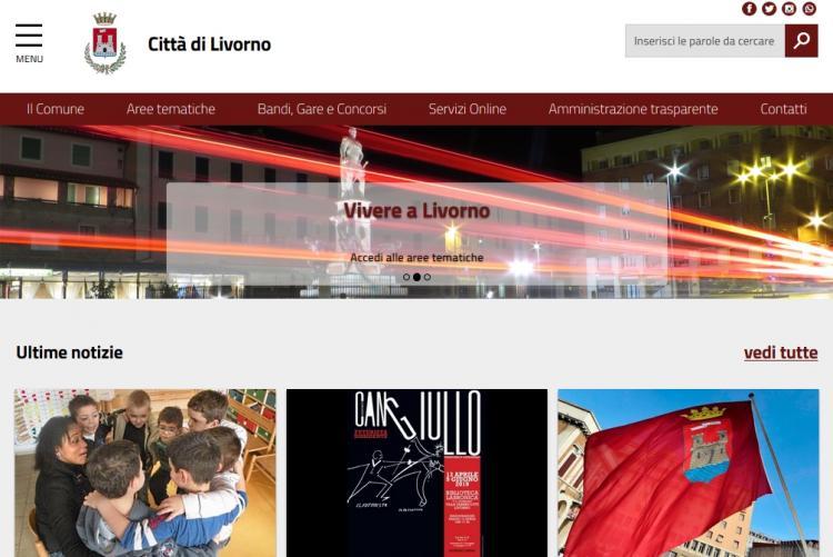 Immagine della home page del nuovo sito
