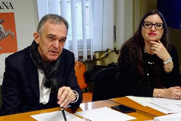 Foto della vicesindaco Stella Sorgente con il presidente della regione Enrico Rossi
