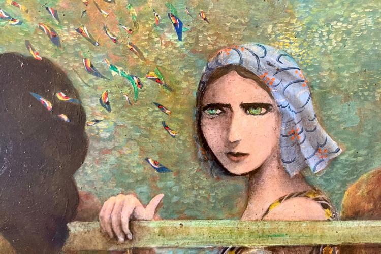 un dipinto dell'artista